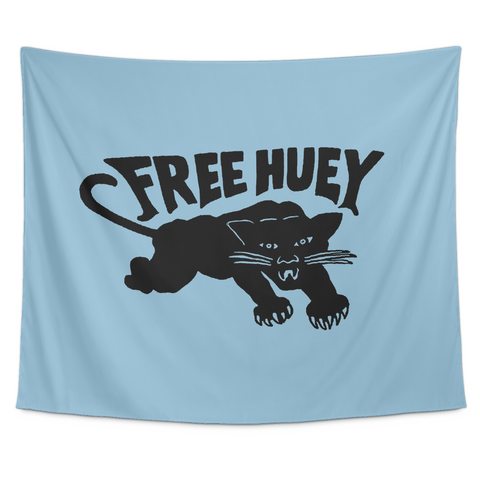 Free Huey Wall Tapestry in Blue