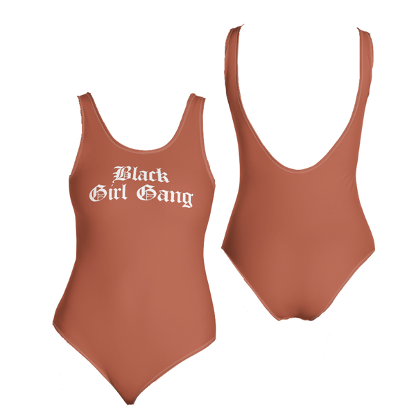 Black Girl Gang One-Piece Swimsuit