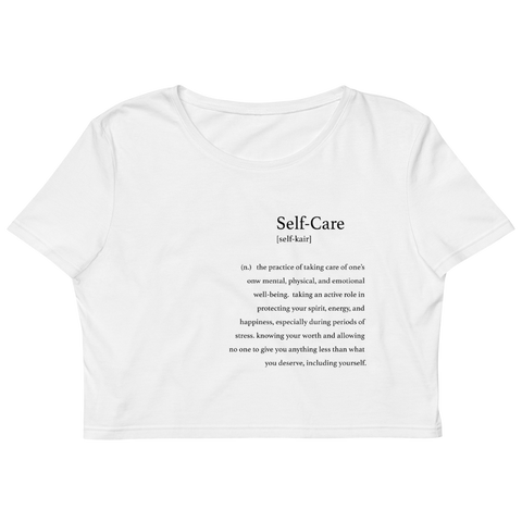 Self-Care Organic Crop Top
