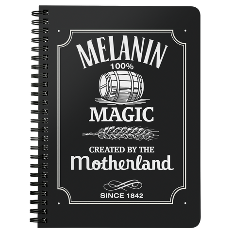 Melanin Whiskey Spiral Notebook