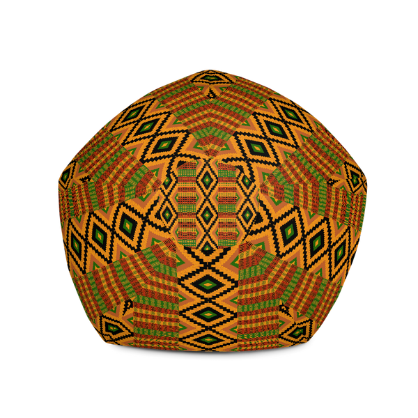 Kente Print Bean Bag Chair