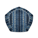Shibori Indigo Print Bean Bag Chair