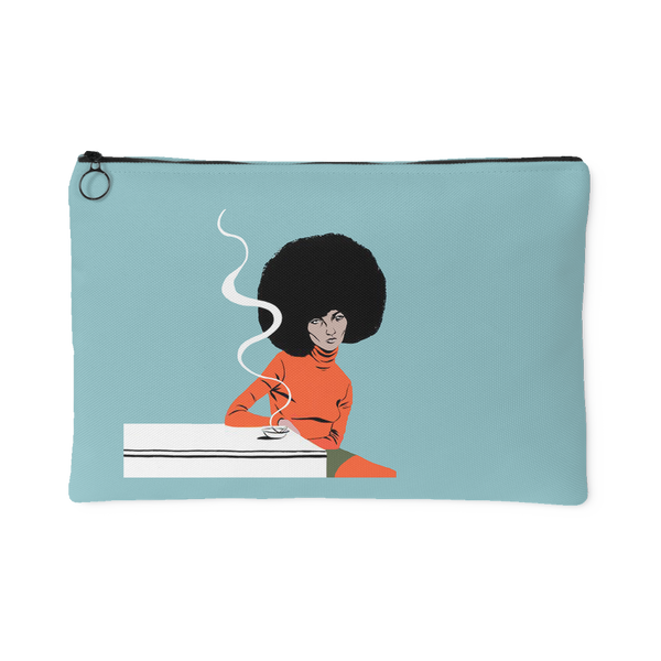 Angela Davis Canvas Pouch