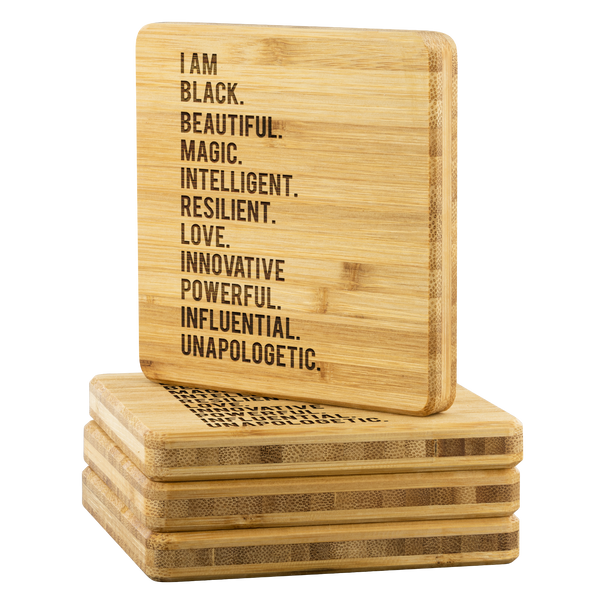 I Am... Bamboo Coasters
