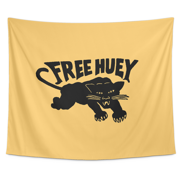 Free Huey Wall Tapestry in Yellow