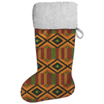 Kente Print Christmas Stocking