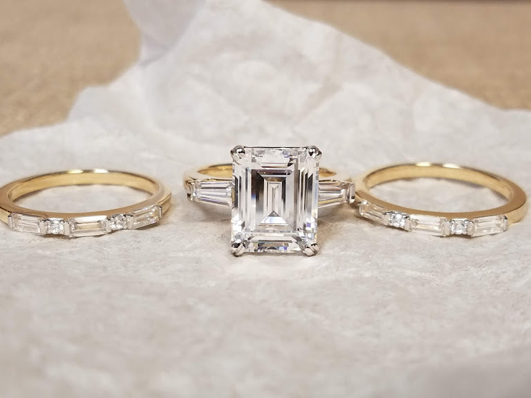 Custom Diamond Wedding Set | Estate Jewelry | Joseph Diamonds | Diamond Rings | Vintage Jewelry | Antique Rings | Best Place to Buy a Diamond Ring | Custom Diamond Ring
