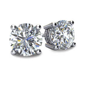 2tcw Round Brilliant Lannyte Diamond Studs