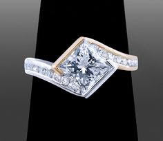Payment 2 of 2 10k two-tone 10mm princess solitaire