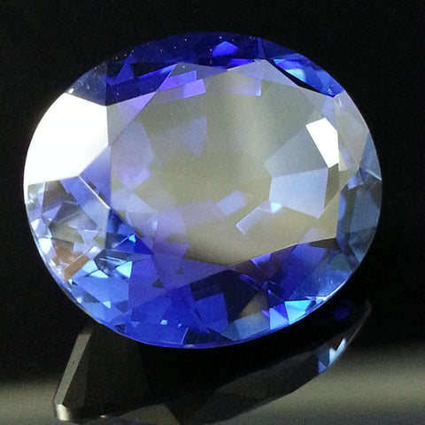 New 1-10 ct OVAL SHAPED Lannyte Lab Created Blue Sapphire Gemstone