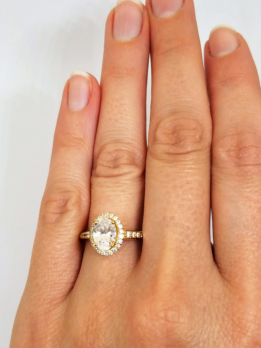 GIA certified 1.28 tcw Oval Halo Diamond Engagement Ring 14k gold