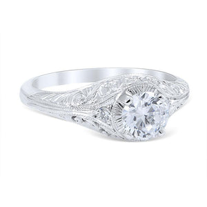 FLORA Vintage Inspired Engagement Ring