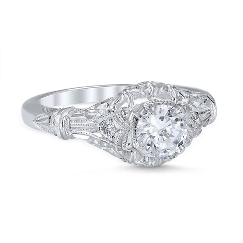 EDWARDIAN BLOSSOM Vintage Inspired Engagement Ring