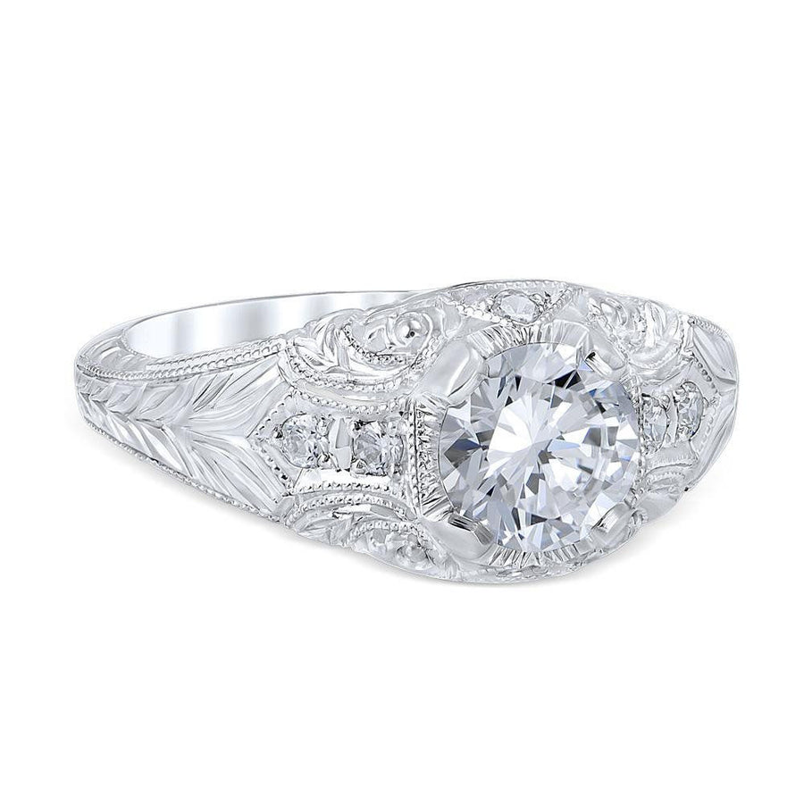 ROMANESQUE ARCADE Vintage Inspired Engagement Ring