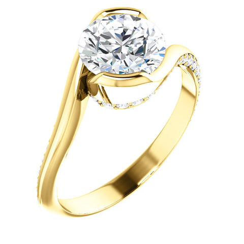 1.53ct H SI2 diamond engagement ring