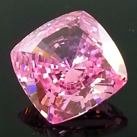 New 1-5 ct Fancy Pink Cushion Cut Lannyte Lab Created Diamond Internally Flawless