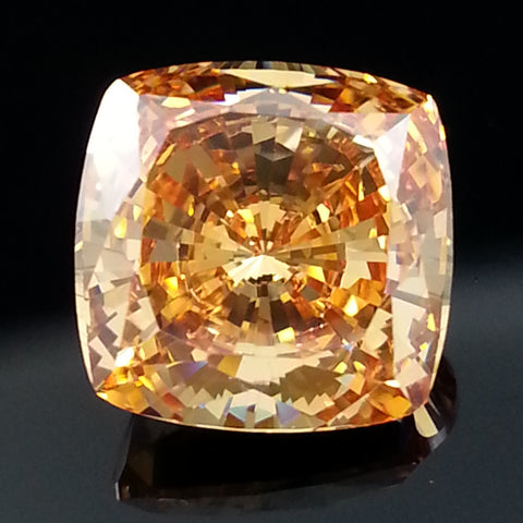 New 1-5 ct Fancy Champagne Cushion Cut Lannyte Lab Created Diamond Internally Flawless