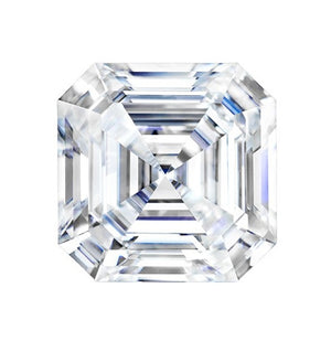 Forever One Colorless ASSCHER CUT Moissanite