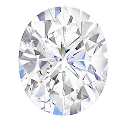 Forever One Colorless Oval Cut Moissanite