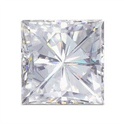 Forever One Colorless Princess Cut Moissanite