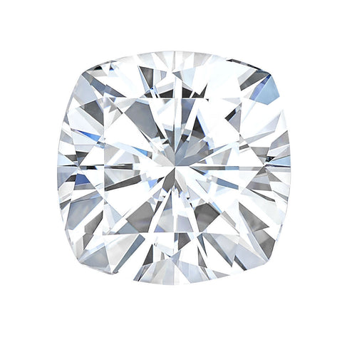 Forever One Colorless CUSHION CUT Moissanite