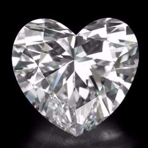 New 1-5 ct Heart Shape Cut Lannyte Lab Created Simulated Diamond Internally Flawless D-E Color