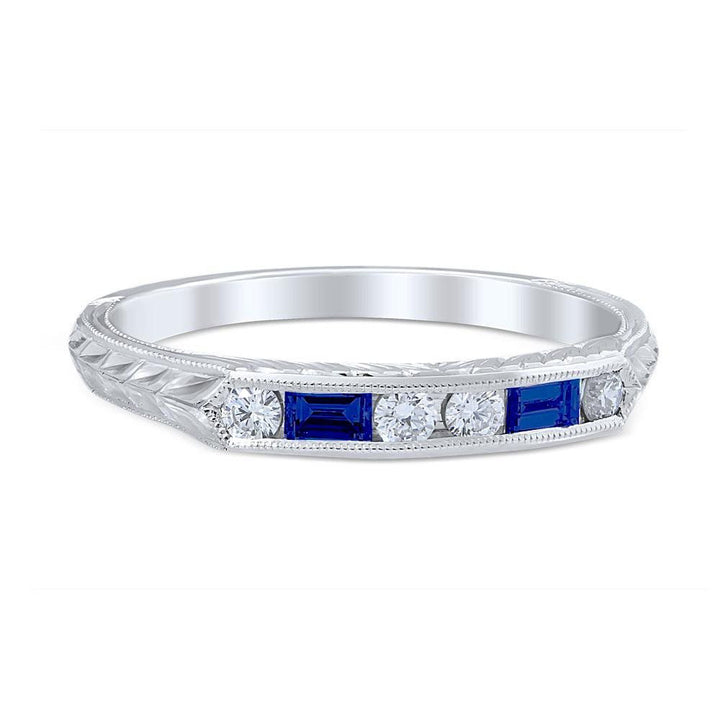 LUCIA SAPPHIRE Vintage Inspired Wedding Ring