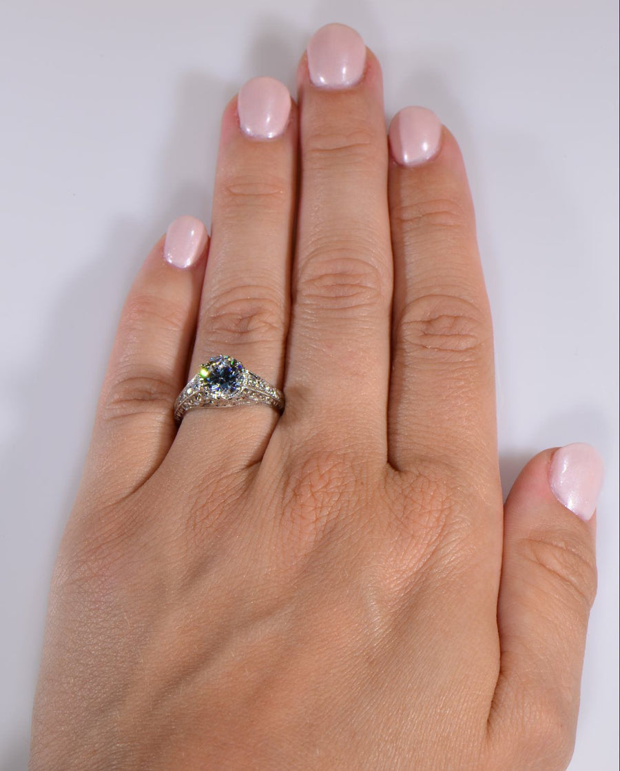 CAROLA Vintage Inspired Engagement Ring