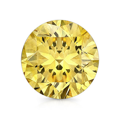 New 1-5 ct Fancy Yellow Round Brilliant Cut Lannyte Lab Created Diamond Internally Flawless
