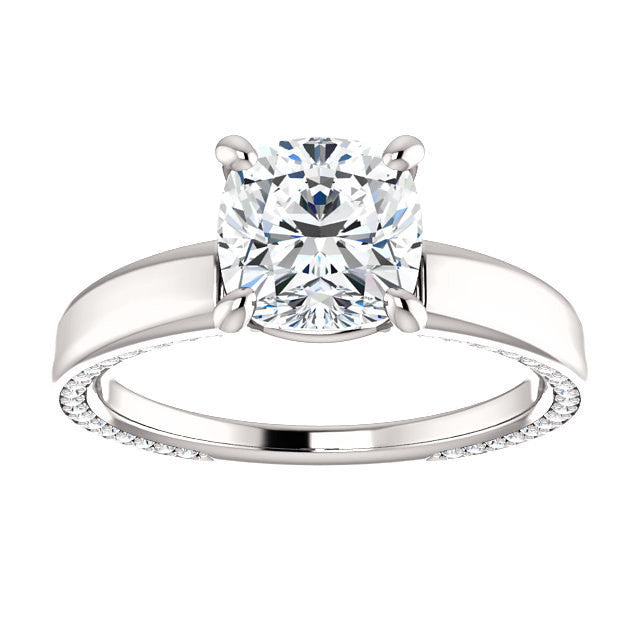 GIA Certified 1.33 carat Brilliant Cushion Diamond Engagement Ring