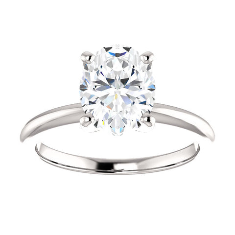 Lannyte Oval Diamond Solitaire