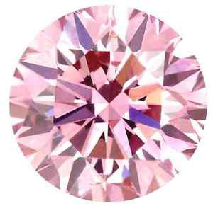New 1-5 ct Fancy Pink Round Brilliant Cut Lannyte Lab Created Diamond Internally Flawless