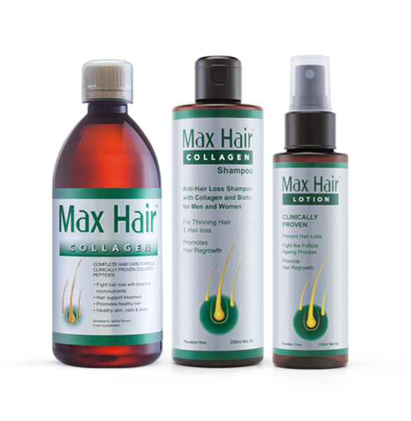 Max Hair Collagen: 3-Step Hair loss Treatment