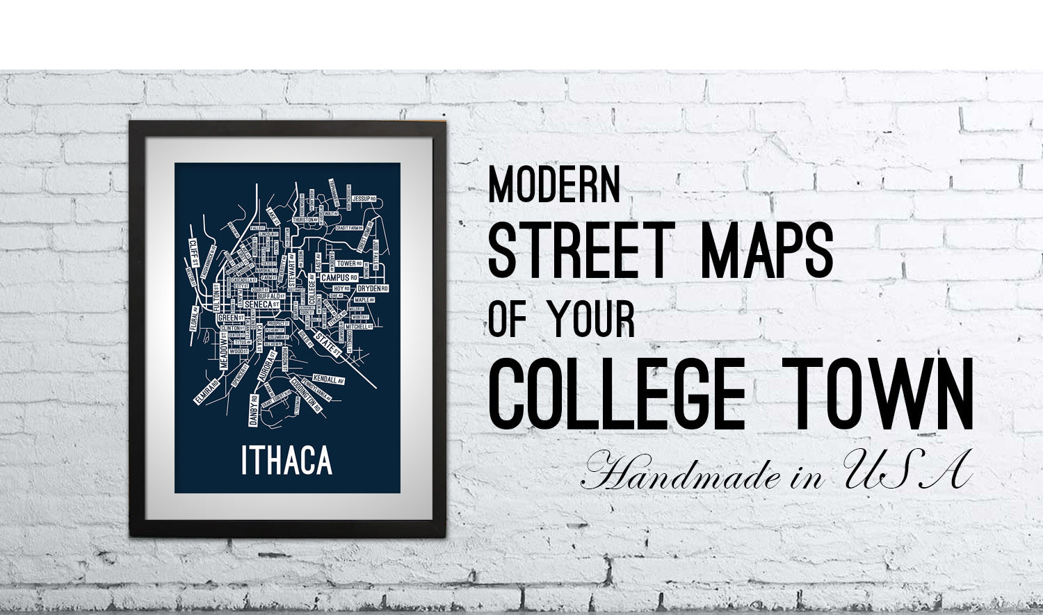 Wartburg College Campus Map.School Street Posters College Town Maps