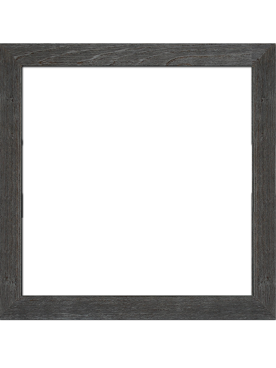 "17"" x 17"" Rustic Wood Frame Without Print"