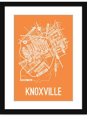 Knoxville, Tennessee Street Map Print