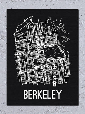 Berkeley, California Street Map Canvas