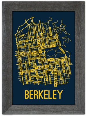 Berkeley, California Street Map Print