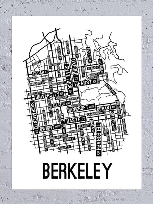 Berkeley, California Street Map Large Poster