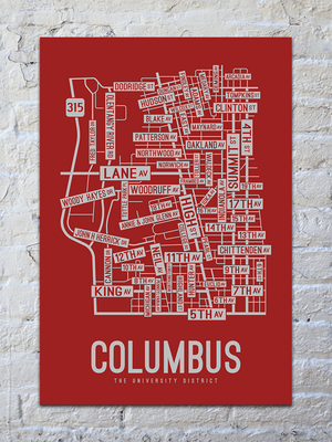 Columbus, Ohio Street Map Print