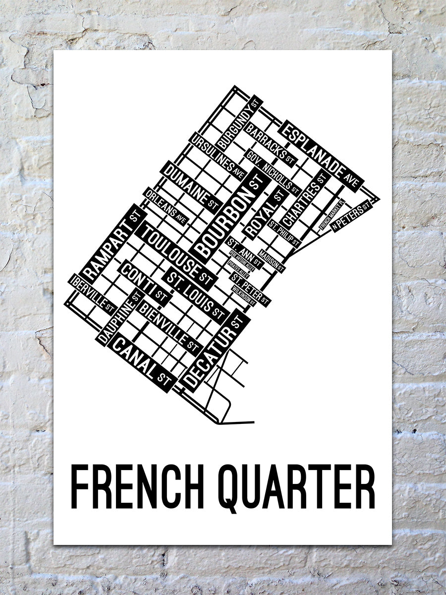 picture relating to French Quarter Map Printable referred to as French Quarter, Fresh new Orleans Road Map Print