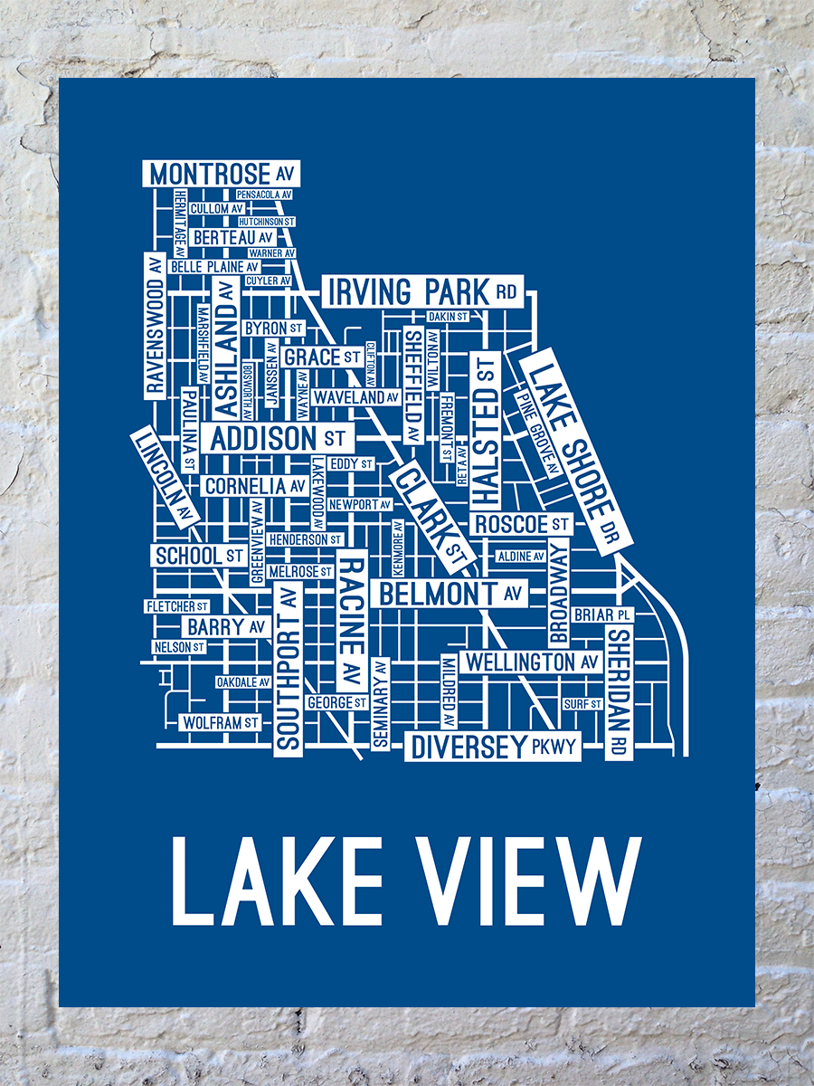Lake View, Chicago Street Large Poster