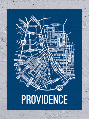 Providence, Rhode Island Street Map Canvas
