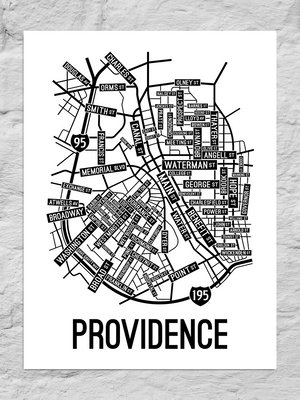 Providence, Rhode Island Street Map Large Poster
