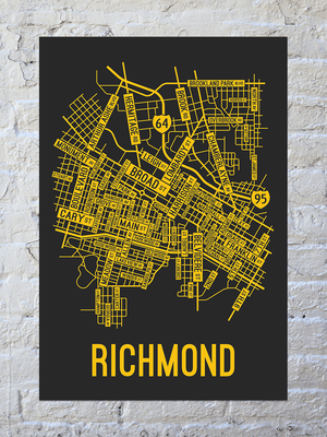 Richmond, Virginia Street Map Print