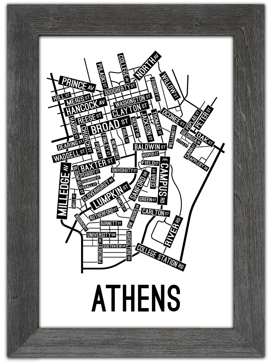 photograph about Printable Maps of Georgia titled Athens, Ga Highway Map Print