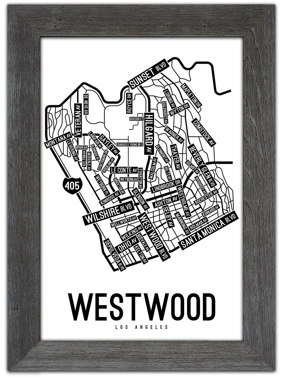 Westwood, Los Angeles Street Map Print on westwood la map, westwood kansas map, westwood ma zoning map, westwood map google maps, westwood map of grounds, westwood ucla map,
