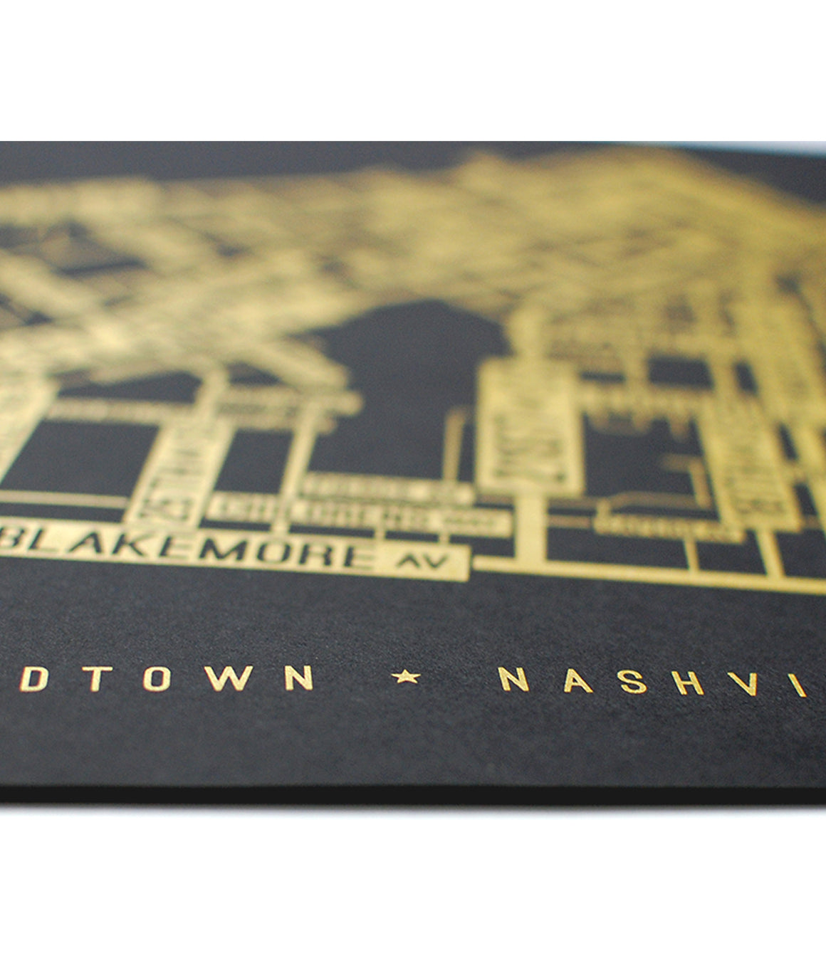 Midtown, Nashville Street Map Screen Print