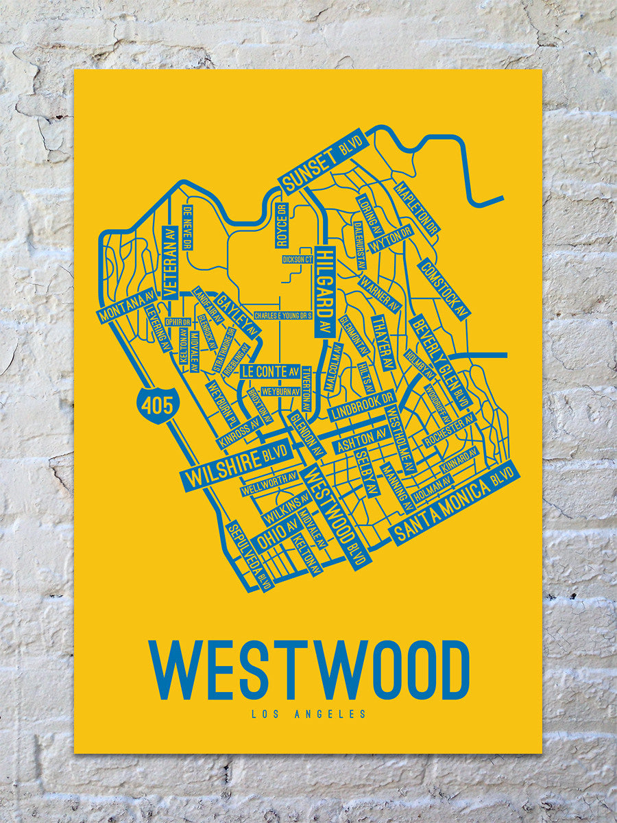 picture regarding Printable Maps of Los Angeles referred to as Westwood, Los Angeles Road Map Print
