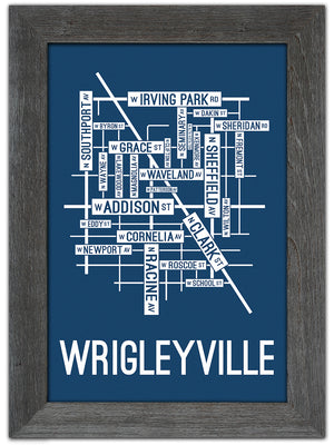 Wrigleyville, Chicago Street Map Print